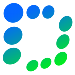 Blue and Green design logo
